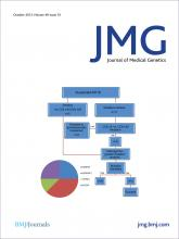 Journal of Medical Genetics: 49 (10)