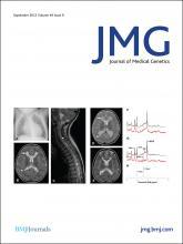 Journal of Medical Genetics: 49 (9)