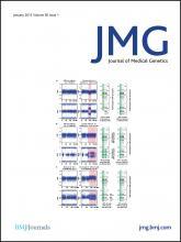 Journal of Medical Genetics: 50 (1)